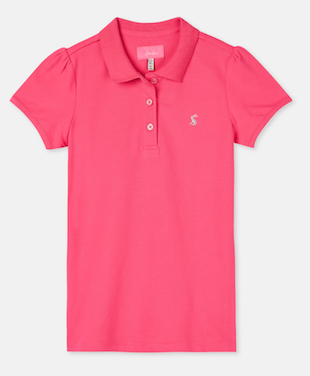Tom Joule kurzarm Poloshirt in pink glitzer