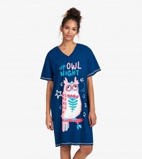 Little Blue House Nachthemd - Up Owl Night