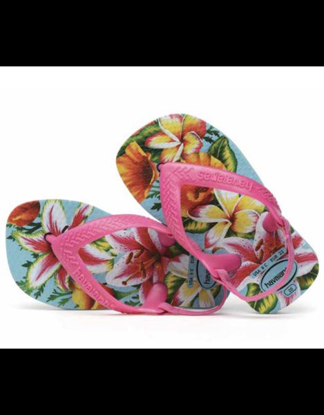 Havaianas Baby Flip Flops - Tropical Blumen