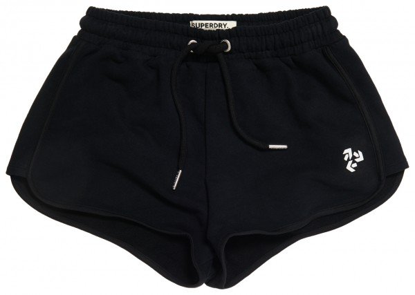 Superdry Runner Sweat Short in Schwarz