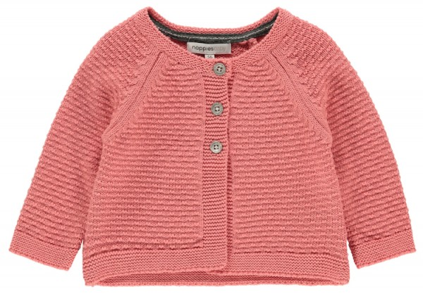 Noppies Baby Cardigan Strickjacke in Peach – Bio Baumwolle