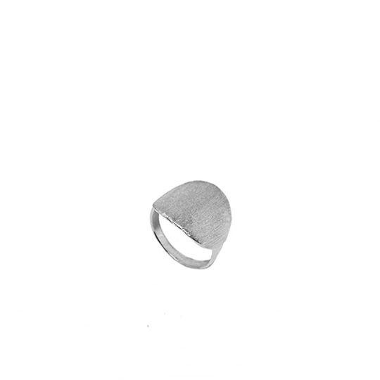 Aqua Dulce Ring BRUSHED - 925Sterling Silber gebürstet