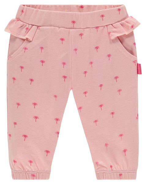 Noppies Hose in Rosa mit Pink Palmen