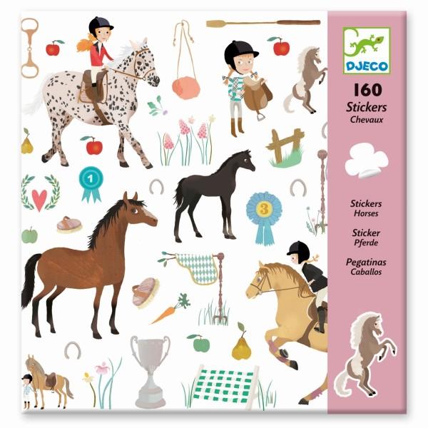 Djeco Sticker Set Pferde