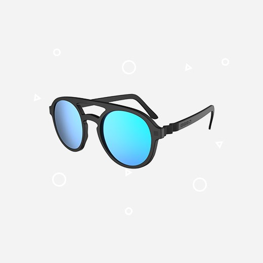 KiETLA Kinder-Sonnenbrille PIZZ (UV-Schutz 3) mit schwarzem Rahmen