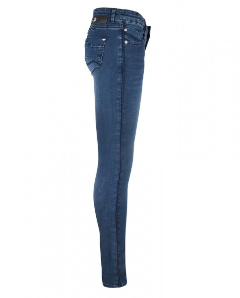 Indian Blue Jeans Jazz Blue Denim Super Skinny Fit mit Glitzerstreifen