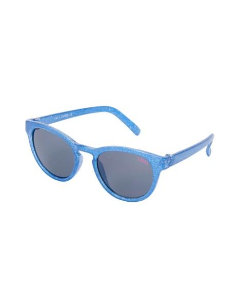 LE BIG Mädchen Sonnenbrille Glitzer blau